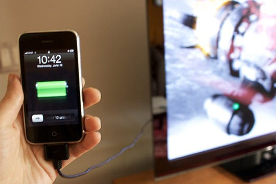 Charge your devices through the USB slot on a TV if, you happen to forget your wall plug