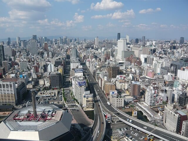 Osaka, Japan, 11,170 sq. km list of largest cities in the world