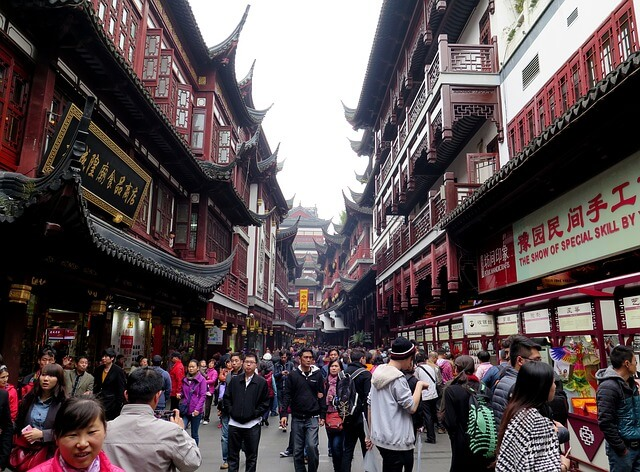 Shanghai (China) is among the biggest cities in the world by population