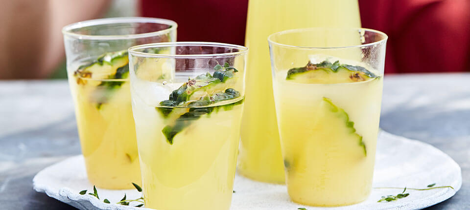 Thyme and Pineapple Iced Tea