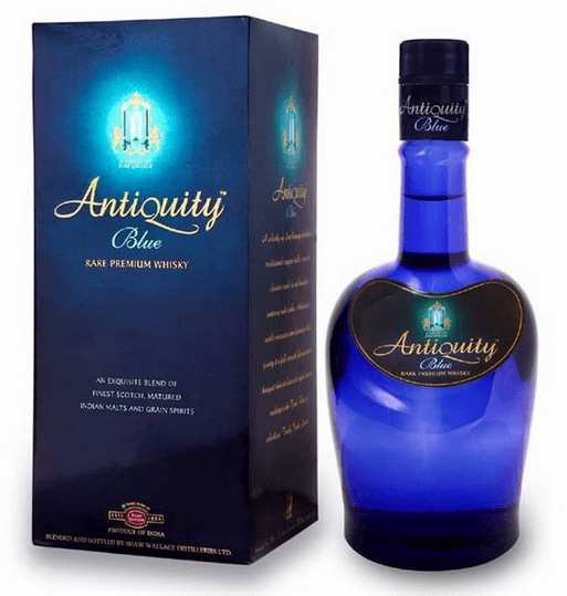 Antiquity blue Whiskey famous whiskies of India