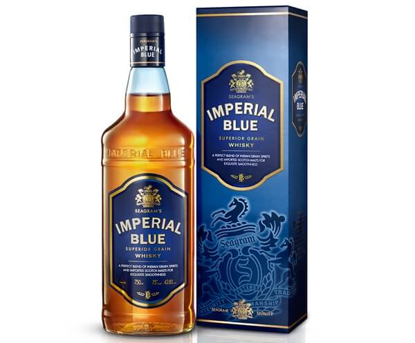 Imperial Blue Whisky no 1 whisky in India