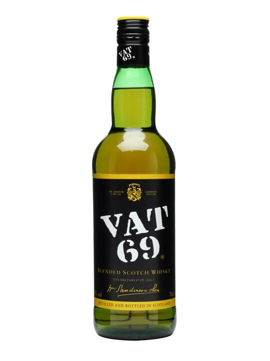 Vat69 is considered to be the most versatile scotch whiskeys