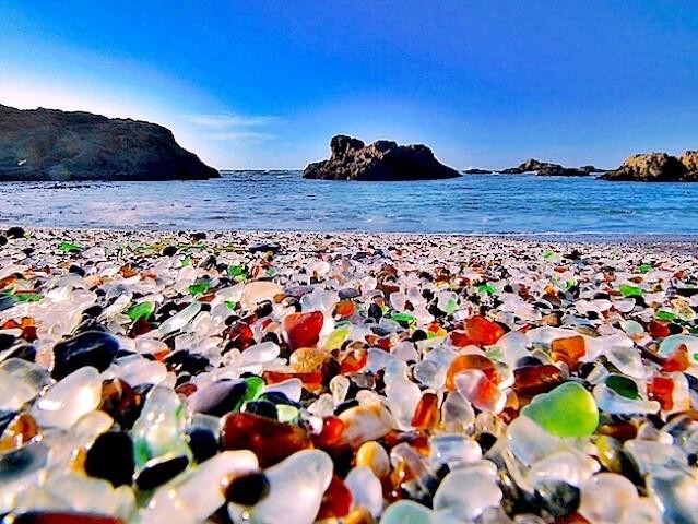 Glass Beach, California best private beaches in the world